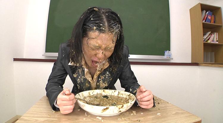 ご飯にゲロをぶっかけてゲロ~ライスを食べる7
